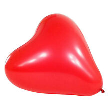 "25 x 11"" Red Latex Hearts Shaped Balloons SS"