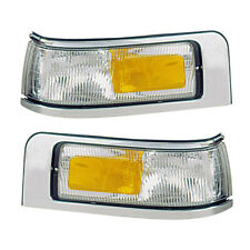 Side Marker Lights Reflectors Pair Set for 95-97 Ford Town Car Left & Right