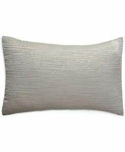 Donna Karan Home Reflection Collection Silk Blend Pillow Sham - KING - Silver