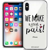 Coque Crystal Gel Pour iPhone X (10) Extra Fine Souple Love We Make Great Pair