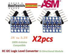 2pcs IIC I2C Logic Level Converter Bi-Directional Module 5V to 3.3V