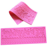 Silicone Butterfly Lace Cake Mould Decorating Fondant Chocolate Mold Bake C8Q3