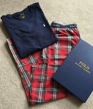 Clothing, Shoes & Accessories Polo Ralph Lauren Cotton Striped Pajamas Set Shirt Pants Medium Men