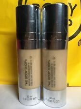 2 x The Body Shop MOISTURE FOUNDATION SPF 15 Shade 01 RRP£13 (60ml In Total)