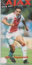 Programma / Programme Ajax Amsterdam v Feyenoord Rotterdam 02-05-1999
