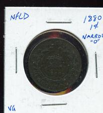 1880 Oval 0 Newfoundland Large Cent VG  MP316