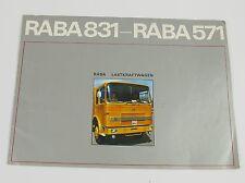 Raba 831 - Raba 571, Raba Lastkraftwagen Prospekt