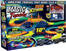 NUOVO 18 piedi 360 PEZZI Magic tracce Mega Set Con 2 LED le AUTO da corsa GLOW IN DARK