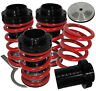 98-02 HONDA ACCORD PRELUDE ADJUSTABLE BLACK SCALE COILOVER SPRINGS LOWERING RED