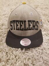 PITTSBURGH STEELERS NFL VINTAGE SNAPBACK FLAT BILL RETRO 2TONE BLOCK CAP HAT d483deb99