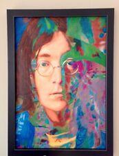 "James Gill Original 33"" x 23"" Acrylic Painting ""John Lennon, Yesterday"", 2007."