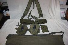 US Military Issue Vietnam Web Belt Set .223 5.56 Nylon Magazine Pouches Set 4A
