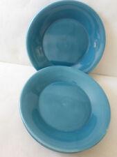 Pier One 1 Imports Essentials Aqua Teal Blue Salad Plates Dish Dishes Lot of 4