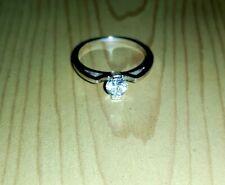 Anello solitario gold ring oro bianco 750 18Kt