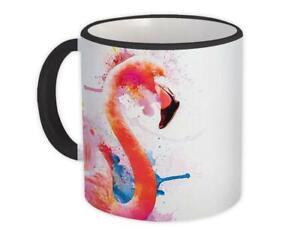 Gift Mug : Flamingo Watercolor Bird Tropical Art Print Modern Splash Nature