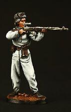 Elite: Soviet Sniper in Winter Camouflage Tin toy soldier 54 mm, metal sculpture
