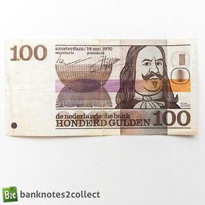 NETHERLANDS: 1 x 100 Dutch Guilder Banknote.