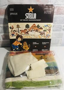 Stella Made in Holland Embroidery Craft Kit for Children's Wall Panel - Farmyard