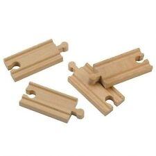 John Crane Ferrovia in legno 4 x breve rettilineo pista giocattolo in legno 9.6cm