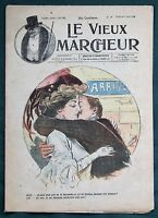 Le Vieux Marcheur - 1908 French Comic / Cartoons Magazine