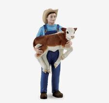 Farmer Mike with Calf # 820029 ~ FREE SHIP in USA w/ $25+ Safari, Ltd Products