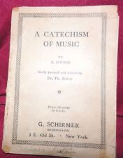 Antique Book 1891 THE CATECHISM OF MUSIC J. Jousse Small Softcover New York