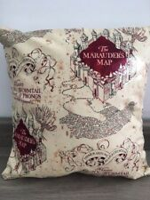 """Harry Potter 'The Marauders Map' 12"""" Square Complete Cushion 100% Cotton Fabric"""