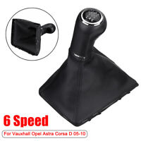 6 Speed Gear Knob Shift Gaiter Boot  Cover For Vauxhall Opel Astra Corsa D