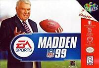 Madden NFL 99 Nintendo 64 N64 Game Used