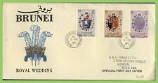 Brunei 1981 Royal Wedding set on First Day Cover, Bandar Seri Begawan