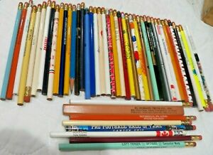 Large Lot of 50 Advertising Wooden Led Pencils
