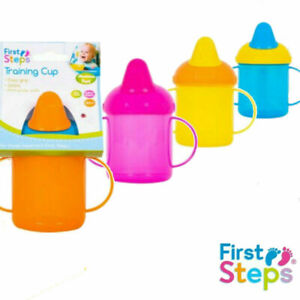 BPA Free Easy Grip Trainer Bottle Baby Toddler Training Sippy Drinking Cup 260ml