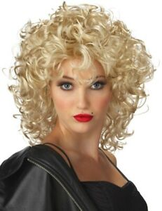 The Bad Girl 1980s Madonna Blonde Curly Women Costume Wig