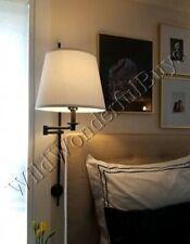 Pottery Barn Elise Wall Sconce Bronze Adjustable Swing Arm Bedroom Bed NIB