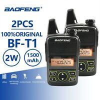 2pcs Baofeng BF-T1 Mini Walkie Talkie UHF 400-470MHz Kids FM Transceiver Radio