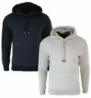Mens Slim Fit Hoodie Wool Knitted Sleeves & Hood Casual Jumper Top Cream Black
