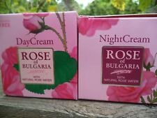 2 creams-Day and Night Cream ROSE of Bulgaria per 50 ml /1.69 oz-Paraben free