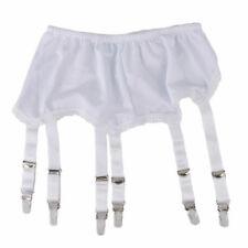 Porte-jarretelles style vintage blanc 6 straps T 44 / 46 / 48 (2XL) neuf / new