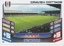N°073 CRAVEN COTTAGE STADIUM FULHAM.FC TRADING CARD MATCH ATTAX TOPPS 2013