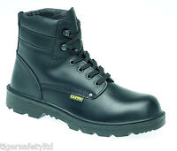 Capps LH832SM S3 Black Leather Mens Safety Boots Steel Toe Cap Work Boot UK PPE