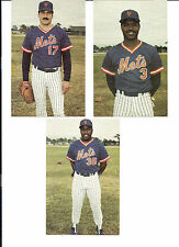 N.Y. Mets 25th Anniversary Postcards- Hernandez- Santana- and Mitchell