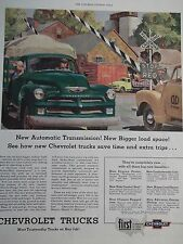 1954 Chevrolet Trucks New Engine Power Ride Control Load Space Advertisement