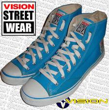 VISION STREET WEAR Vintage '80s Skateboard Shoes Turquoise Hi Tops 8 UK / 9 USA