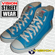 Vision Street Wear AÑOS 80 skateboard Zapatos Turquesa Lona Bota Alta 8uk / 9