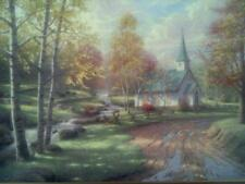 The Aspen Chapel Print by Thomas Kinkade in 11 x 14 Matte & Framed with COA