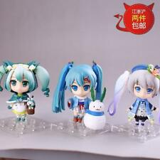3pcs Q Version Vocaloid Hatsune Miku Painted PVC Figuren Figur Spielzeug