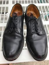 Vintage Florsheim Imperial Black Leather Plain Toe V-cleat 5 Nails Shoes Sz 9D