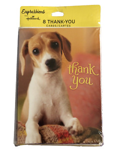 8pc Set Blank THANK YOU CARDS Puppy - By Hallmark