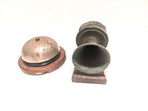 Antique Telephone Mounted Transmitter + Bell - Historical Telephony