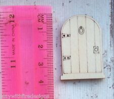 set of 10 laser cut wooden mini tiny fairy faerie pixie elf doors unpainted